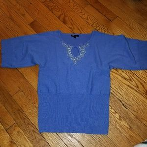 Cable and gauge sweater